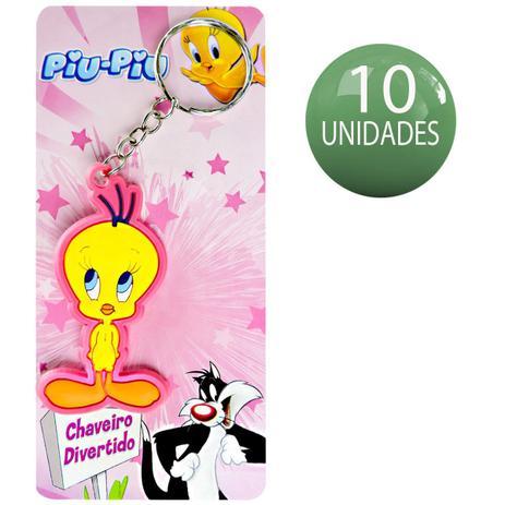 10 Chaveiros Divertidos Piu Piu Looney Tunes Warner Bros