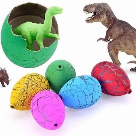 Imagem de 10 Uni Ovos De Dinossauro Ovo Surpresa Cresce Na Água Tam. P