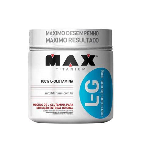Imagem de 100% l-glutamina l-g 300g - max titanium