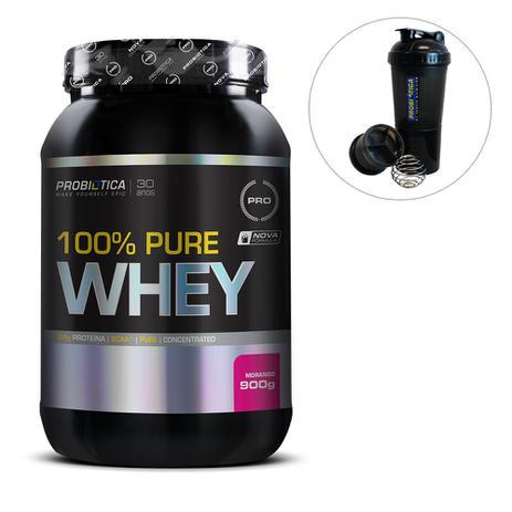 6d1d8e900e 100 Pure Whey 900g Probiótica Pro + Coqueteleira - Probiotica - Whey ...