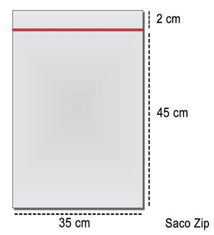 Imagem de 100 Sacos Saquinho Zip Lock Hermético 35x45 Ziplock
