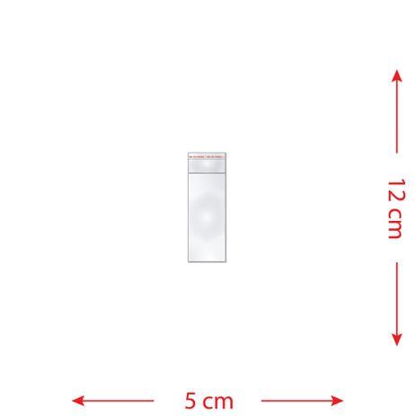 Imagem de 100 Saquinhos 5 x 12 cm Autocolante Transparente