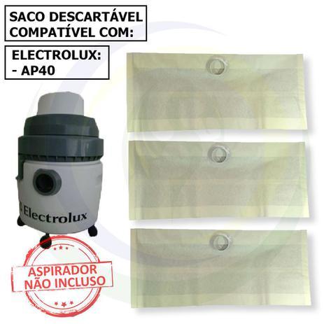 Imagem de 12 Saco Descartável para Aspirador de Pó Electrolux Ap40