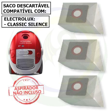 Imagem de 12 Saco Descartável para Aspirador de Pó Electrolux Classic Silence