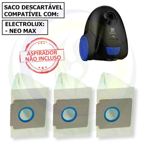 Imagem de 12 Saco Descartável para Aspirador de Pó Electrolux Neo Max