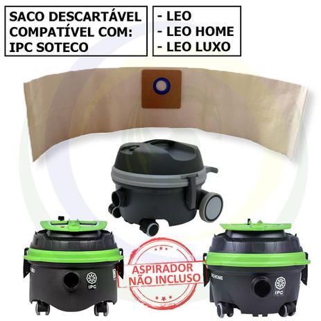 Imagem de 12 Saco Descartável para Aspirador de Pó IPC Soteco Leo / Leo Home / Leo Luxo