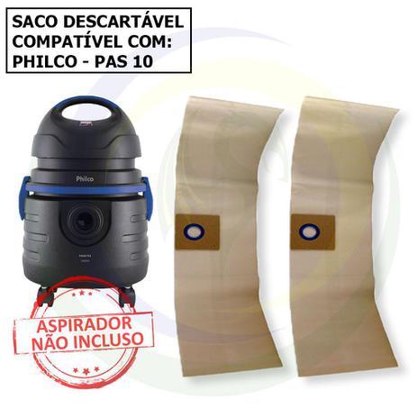 Imagem de 12 Saco Descartável para Aspirador de Pó Philco Pas 10