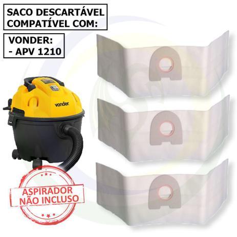 Imagem de 12 Saco Descartável para Aspirador de Pó Vonder Apv 1210 - 10 Litros