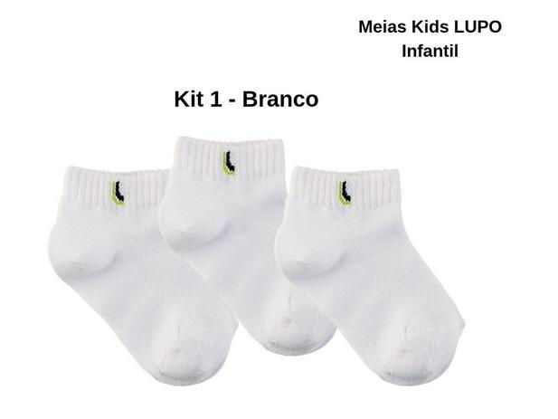 24eac2a63 18 Pares Meias Lupo Kid Cano Curto Infantil Algodão Original - Meia Infantil  - Magazine Luiza