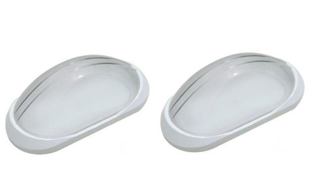 Imagem de 2 Arandela Tartaruga Externa Plástica Qualidade Branca AC189