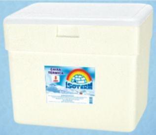 Imagem de 2 Caixas Térmica Isopor 8 Litros Gelo Cerveja Refri Isoterm