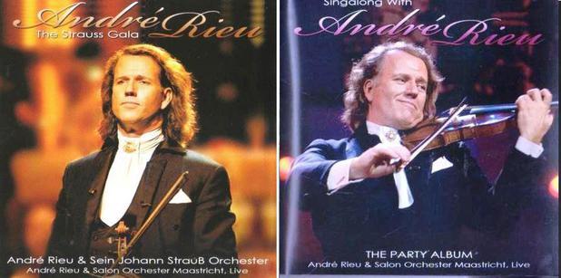 Imagem de 2 CDs André Rieu (The Strauss Gala + Singalong With)