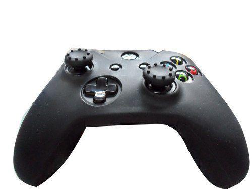 Imagem de 2 Kits Capas E Grips Para Controle Xbox One Preto Black