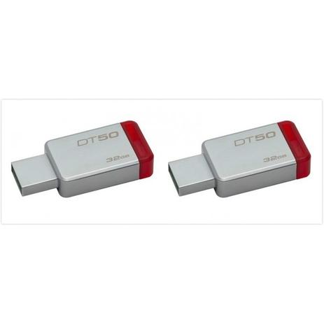 Imagem de 2 Pendrive Kingston Original Dt50 32gb Usb 3.1/3.0/2.0