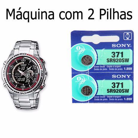 e3b0dfae690 2 Pilha Sony SR920SW 371 Para Relógio Casio Edifice EFA 121 ...