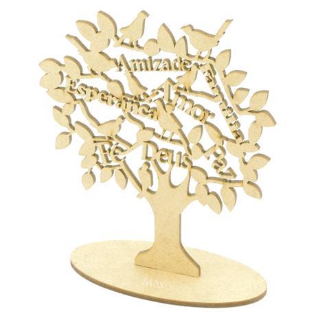 Imagem de 20 Lembrancinhas Personalizada - Display Árvore com Palavras - Centro de Mesa