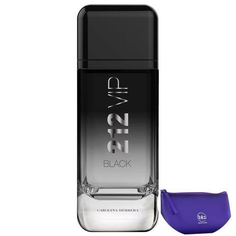Imagem de 212 VIP Black Carolina Herrera Eau de Parfum-Perfume Masculino 200ml+Beleza na Web Roxo - Nécessaire