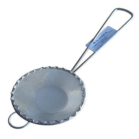 Imagem de 2un Peneira Coador Para Óleo Sucos Chá Leite Em Aço Inox 8cm