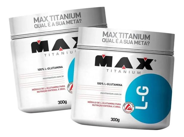 Imagem de 2x Glutamina 300g (600g) Max Titanium Super Oferta