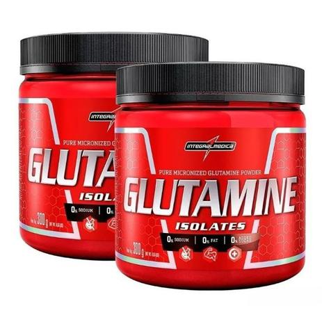 Imagem de 2x Glutamine Isolates Natural 300g Integralmedica