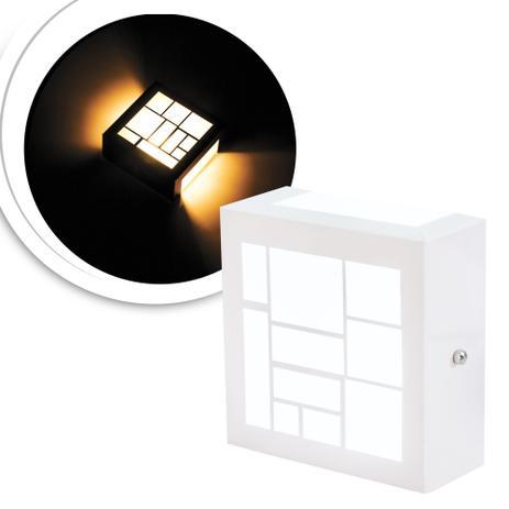 Imagem de 3 Arandelas Luminária Loy Branca Para Parede Interna E Exter