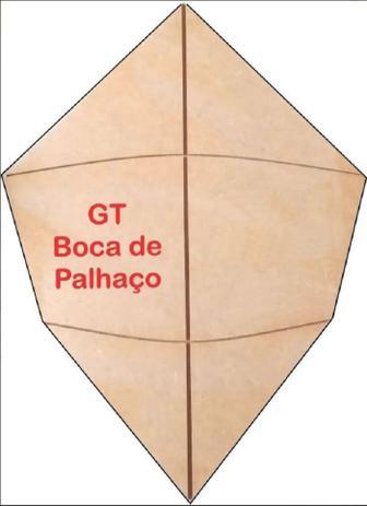 Imagem de 3 Gabaritos Para Pipa Raia