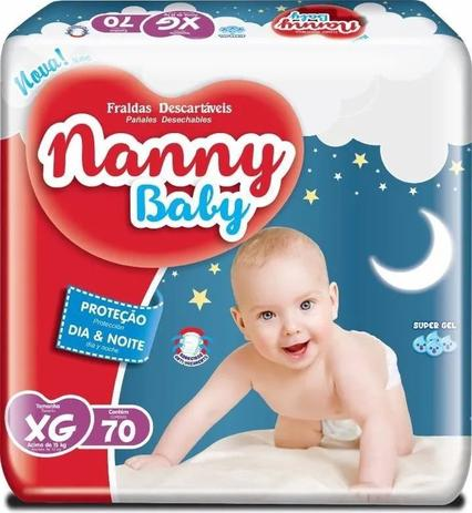 Imagem de 3 Pct Fralda Descartável Nanny Baby XG Com 70 Unidades Atacado
