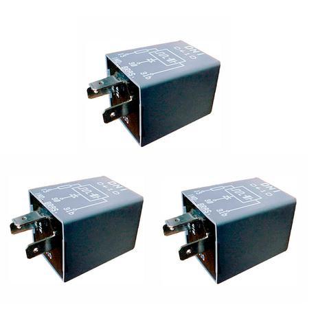 Imagem de 3 Relés Sinalizadores Acústicos De Farol Aceso VW / Ford / Gm DNI 0410