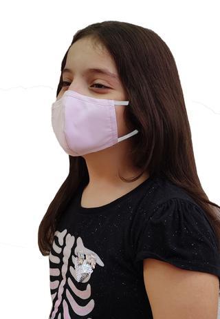 Imagem de 3 U Máscara Infantil Tecido Algodão Premium Tripla Camada