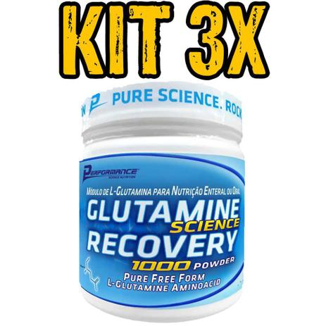 Imagem de 3x Glutamina 300g - Performance Nutrition