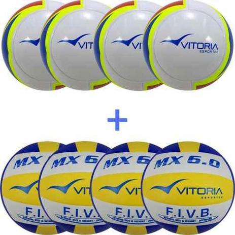 7d4c1051c 4 Bolas De Futsal Profissionais + 4 Bolas De Volei 6.0 - Vitoria esportes