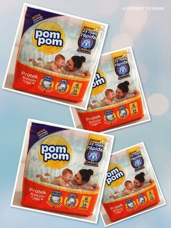 Imagem de 4 pacotes de Fraldas Pompom- Tamanho G ( 104 fraldas)