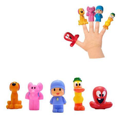 5 Bonecos Miniaturas Pocoyo Cardoso Toys Boneco Pocoyo