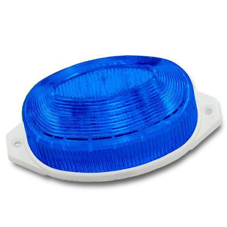 Imagem de 5 Lâmpadas Strobo 127V / 3,5W - Fixação Tartaruga - Cor Azul  (RESISTENTE À ÁGUA)