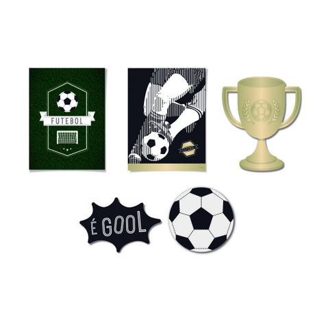 6 Cartazes decorativo Futebol 33X27 Dec. Festas - Cromus - Artigos ... 609517515e771