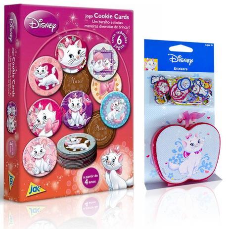 6b81e153769 6 Jogos em 1 Jogo Cards Marie Baralho Cookie com 100 Mini Adesivos - Toyster