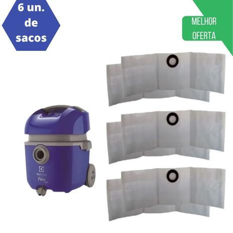 Imagem de 6 Sacos P/ Aspirador De Pó Electrolux Flex 1400 Flsc