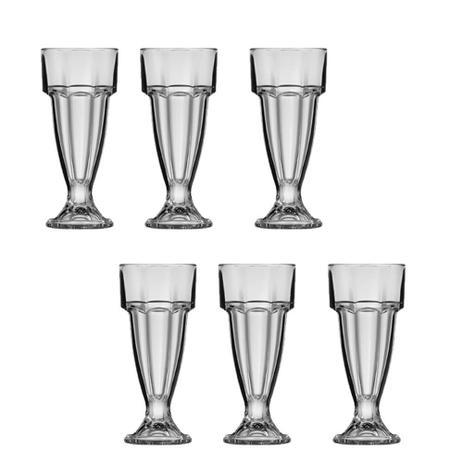 Imagem de 6 Taças para Milk Shake e Sorvete 300 ml Copo Tradicional Sobremesa Western