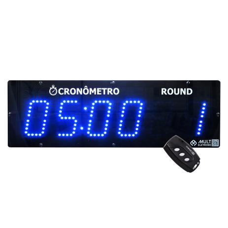 Imagem de 700.000727.000 - Cronômetro Digital Regressivo e Progressivo Multeletronic Com Controle Azul
