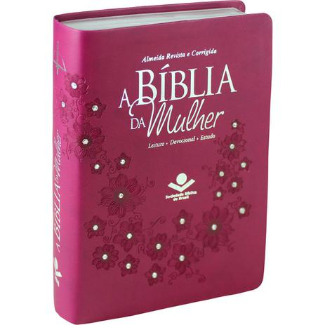 Imagem de A Bíblia de Estudo Da Mulher  ARC  Capa Luxo Vinho com Pedras