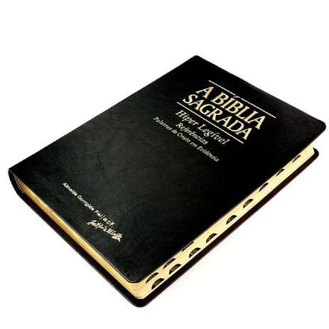 Imagem de A Bíblia Sagrada  ACF  Hiper Legível  Luxo  Preta