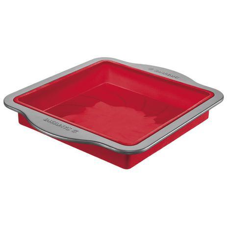 Imagem de A Forma de Silicone Antiaderente 32cm Vermelha - Sanremo