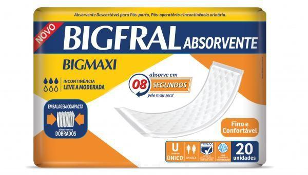 Imagem de Absorvente geriatrico bigfral maxi c/20 un