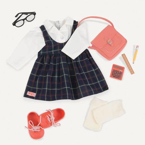 9e436b95a Acessórios de Boneca - Our Generation - Uniforme Escolar - Candide ...