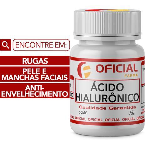 Imagem de Ácido Hialurônico 50Mg 60 Cápsulas