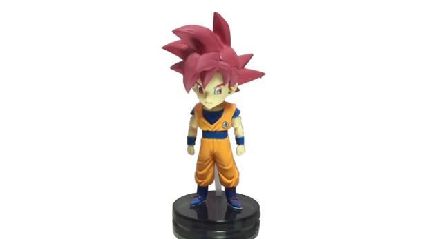 Imagem de Action Figure Dragon Ball Super Goku SS God 8CM