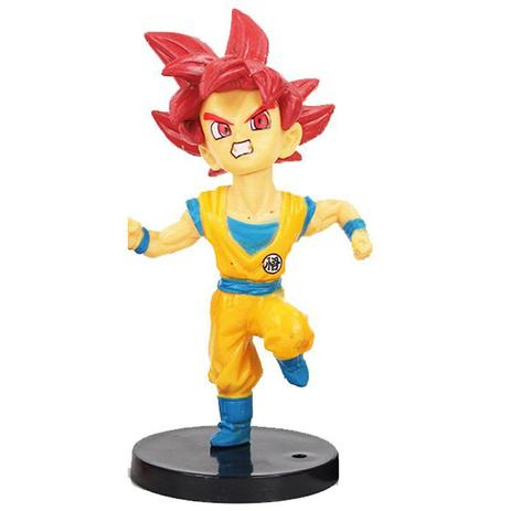 Imagem de Action Figure Dragon Ball Super Goku SSJ God 9CM