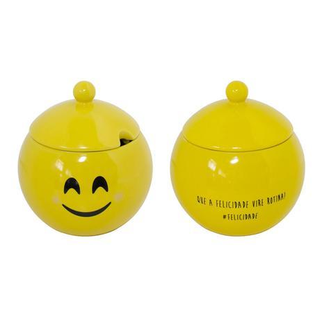 Imagem de Açucareiro De Cerâmica Amarelo Felicidade 152123 Mondoceram