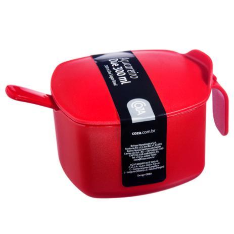 Imagem de Açucareiro Due com Colher PP 14,8x10,8x7,6cm 300ml cor Vermelho - COZA