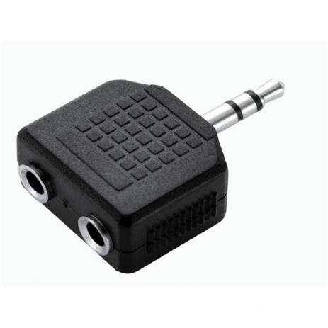Imagem de Adaptador Duplicador De Audio P/ Fone De Ouvido 2 Saidas P2